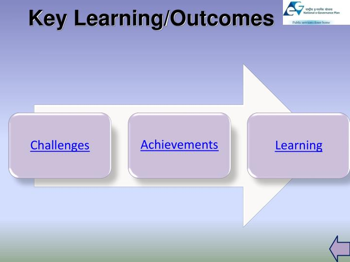 Key Learning/Outcomes