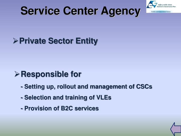 Service Center Agency