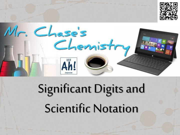 significant digits and scientific notation n.