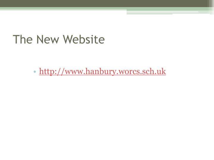 The new website