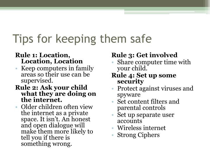 Tips for keeping them safe