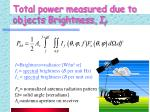 total power measured due to objects brightness i f