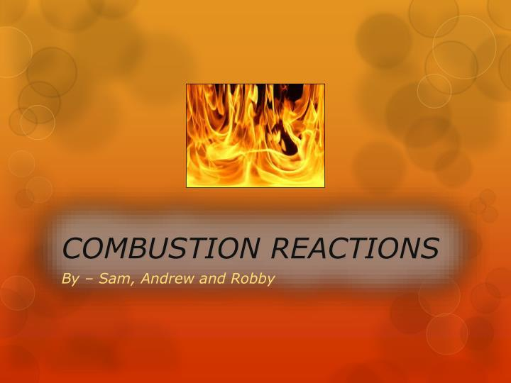 combustion reactions n.