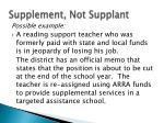 supplement not supplant7