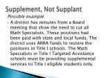 supplement not supplant8