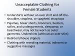 unacceptable clothing for female students