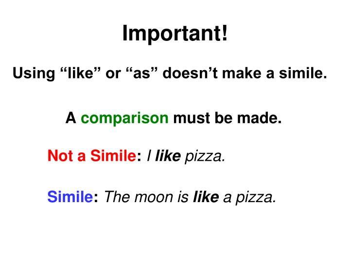 Important!