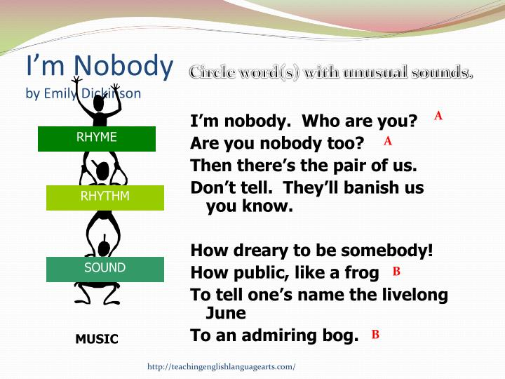 analysis of i m nobody who are you by emily dickinson