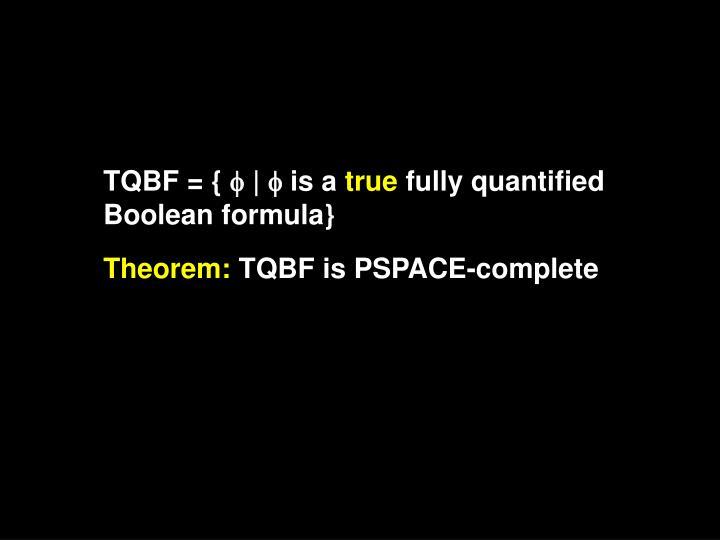 TQBF = {