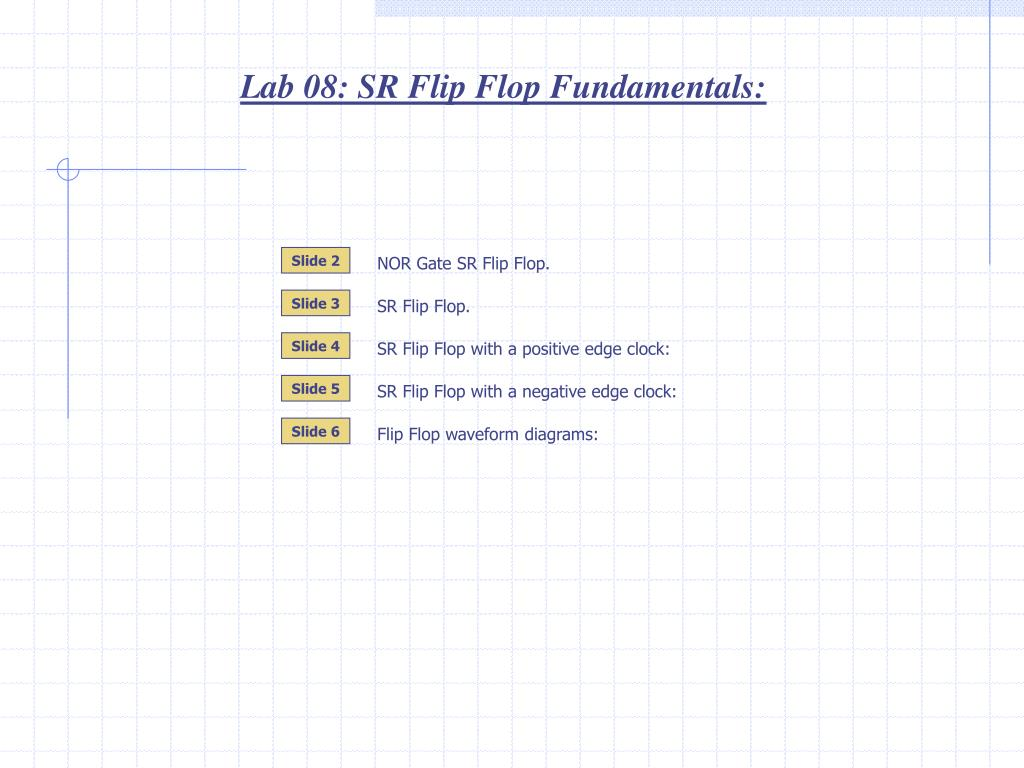 Circuit Diagram Of Sr Flip Flop
