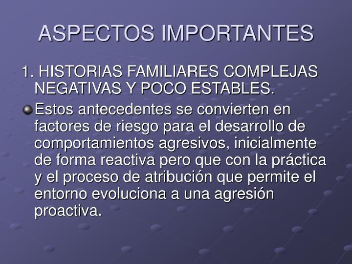 ASPECTOS IMPORTANTES