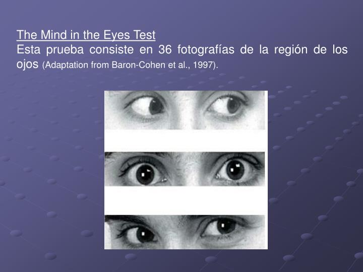 The Mind in the Eyes Test