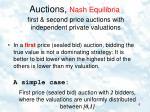 auctions nash equilibria1