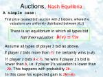 auctions nash equilibria2