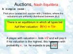 auctions nash equilibria6