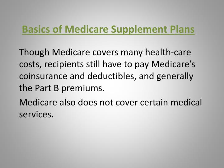 basics of medicare supplement plans n.