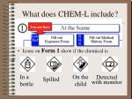 what does chem l include8