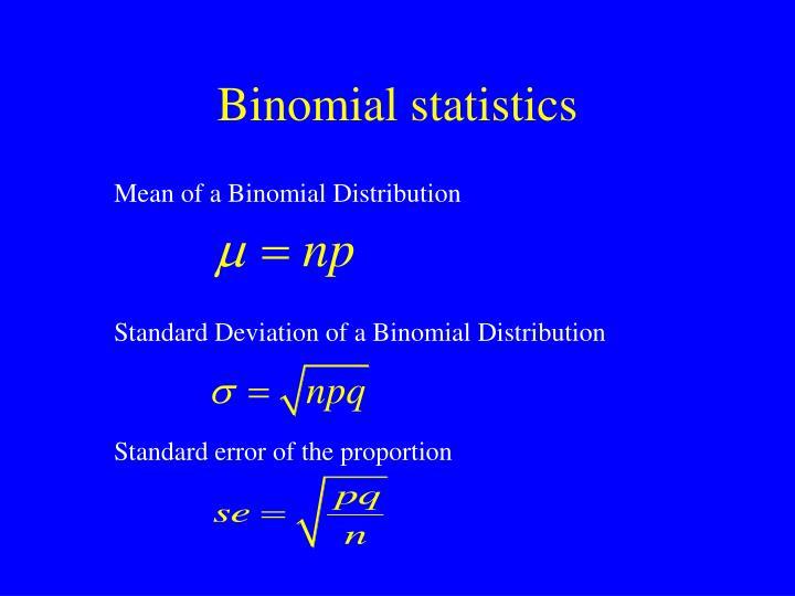 Binomial statistics