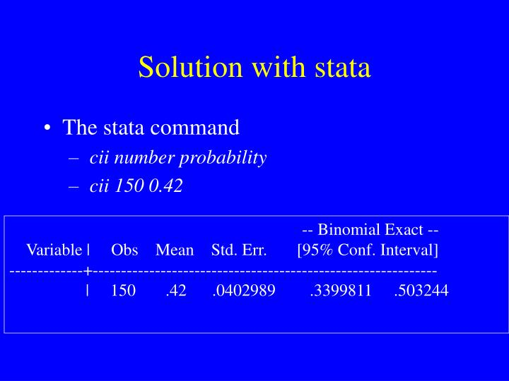 Solution with stata