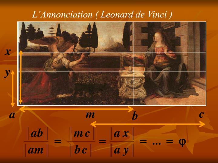 L'Annonciation ( Leonard de Vinci )