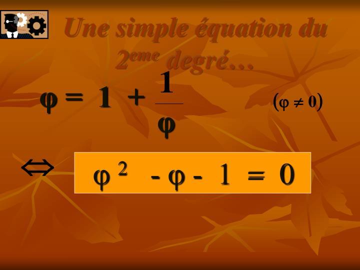 Une simple équation du 2