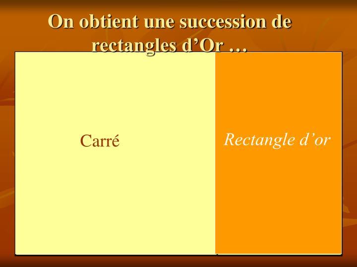 On obtient une succession de rectangles d'Or …