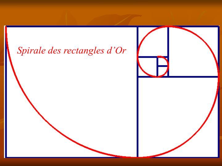 Spirale des rectangles d'Or