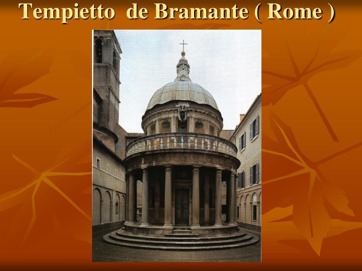 Tempietto  de Bramante ( Rome )