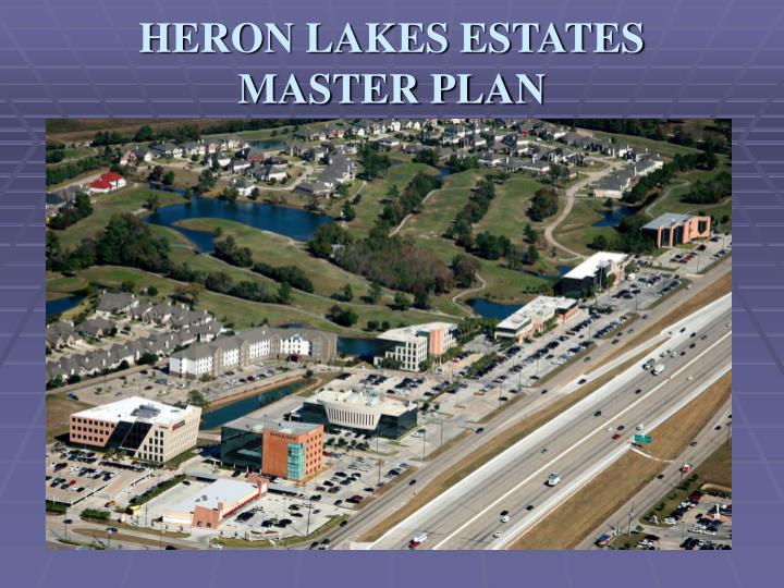 heron lakes estates master plan n.