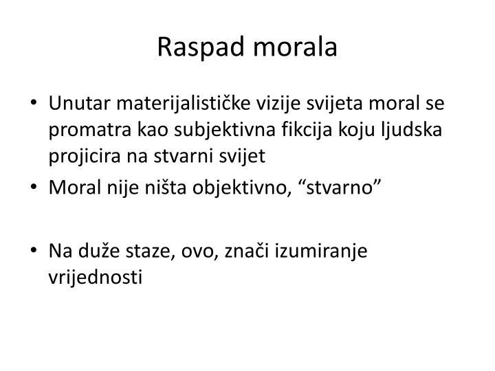 Raspad morala