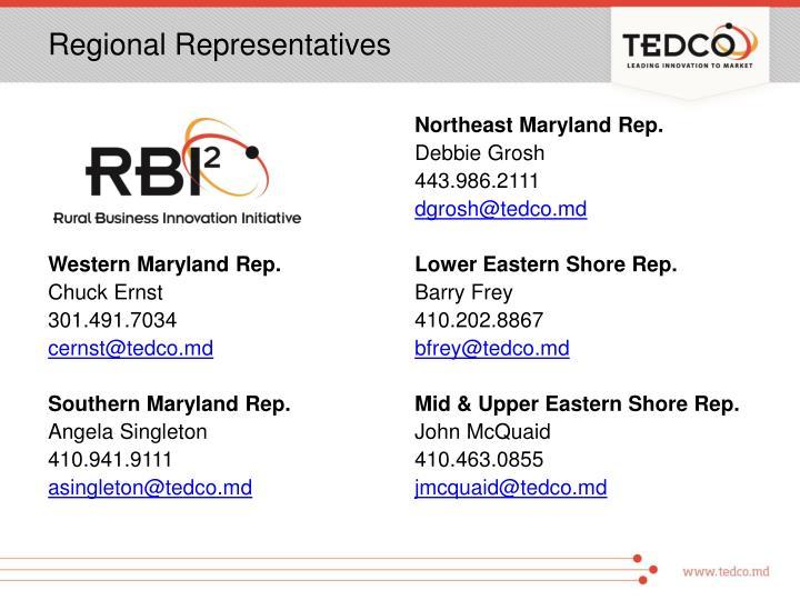 Regional Representatives