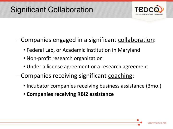 Significant Collaboration