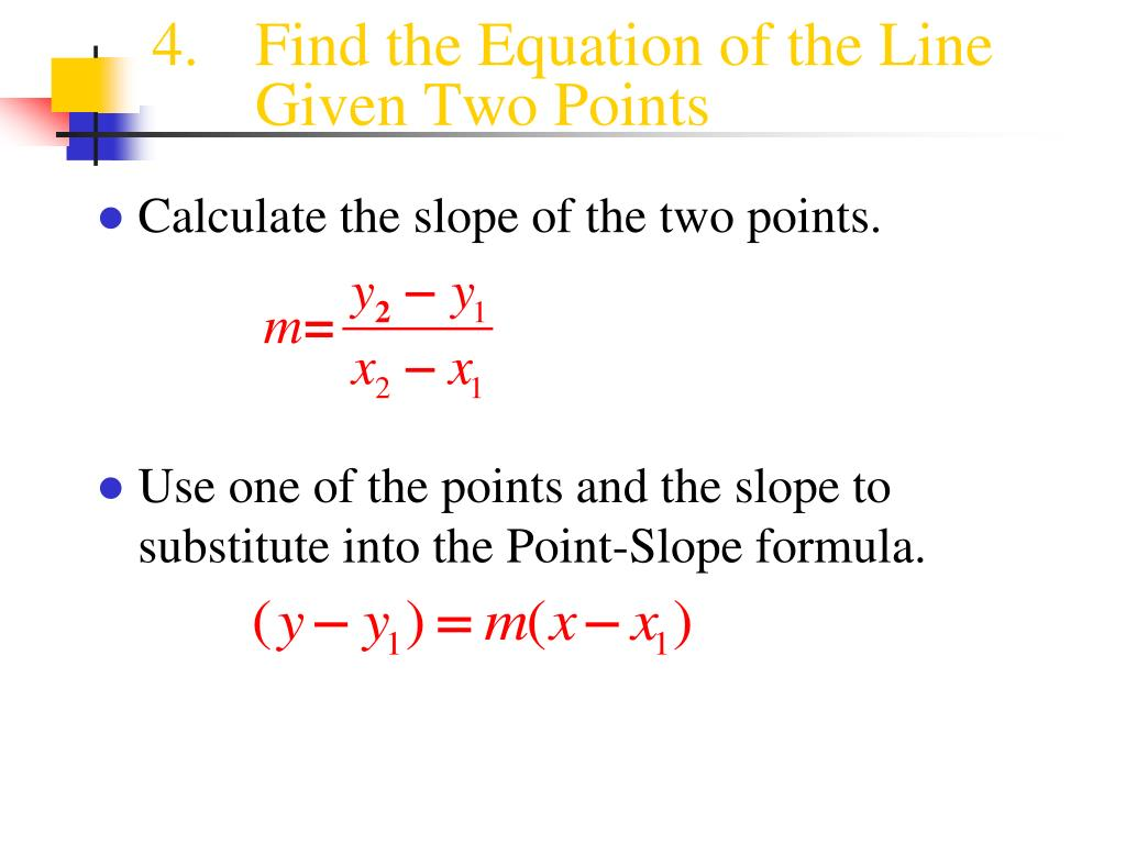 point slope form 2 points calculator  PPT - 11.11 Writing the Equation of a Line PowerPoint ...