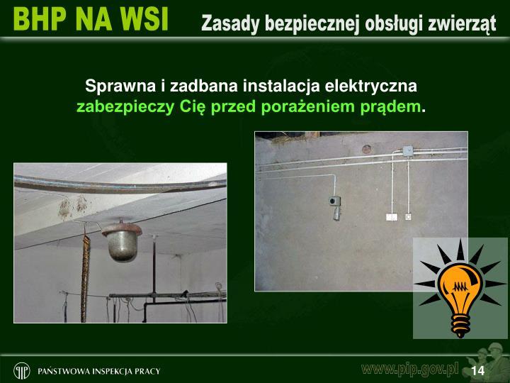 Sprawna i zadbana instalacja elektryczna
