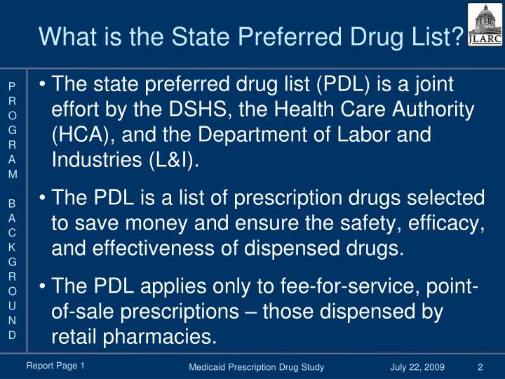 What is the state preferred drug list