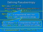 defining pseudoentropy