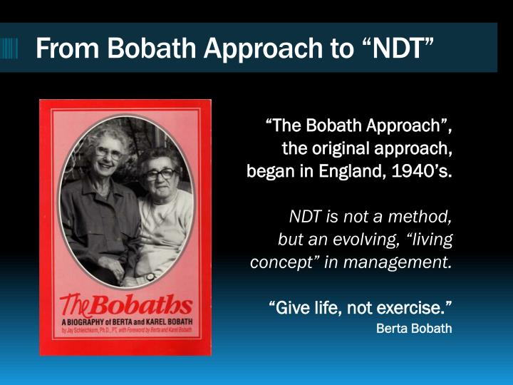 Ppt Neuro Developmental Treatment Association About The Ndta In