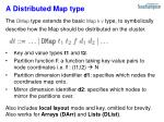 a distributed map type
