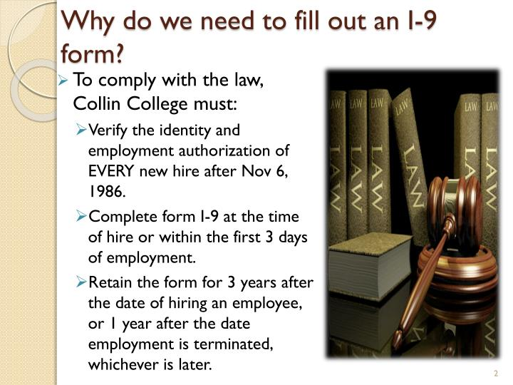 Ppt Form I 9 Employment Eligibility Verification Form Powerpoint