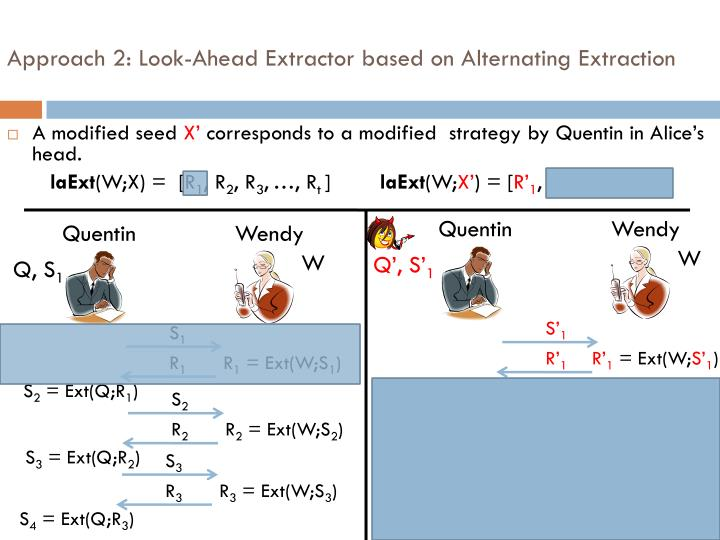 Approach 2: Look-Ahead Extractor based on Alternating Extraction