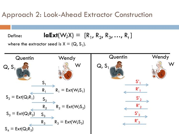 Approach 2: Look-Ahead Extractor Construction