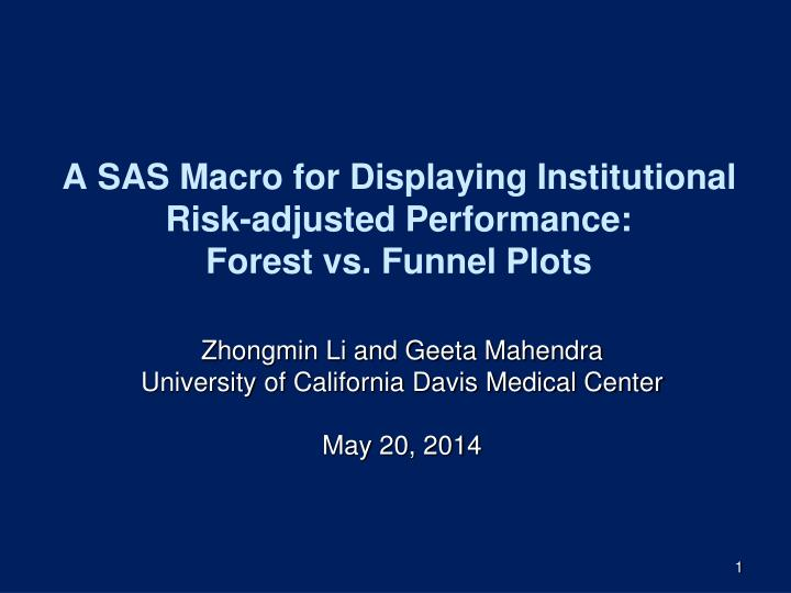 a sas macro for displaying institutional risk adjusted performance forest vs funnel plots n.