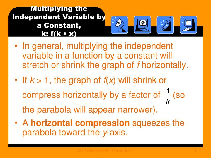 Multiplying the Independent Variable by a Constant,
