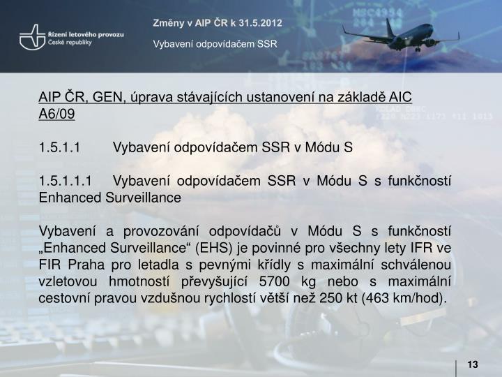 Změny v AIP ČR k 31.5.2012