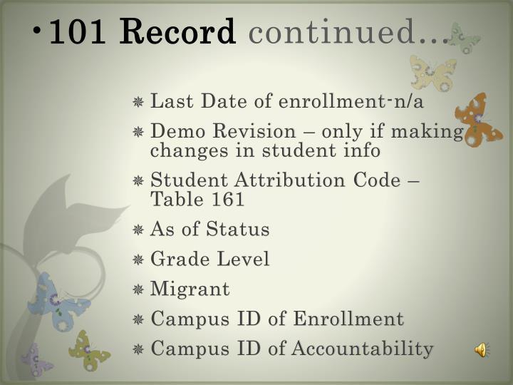 101 Record
