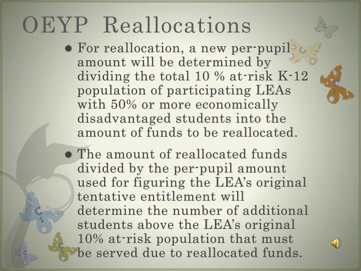 OEYP  Reallocations