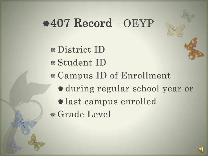 407 Record