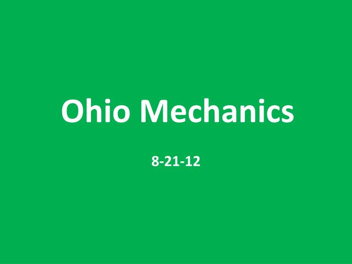 ohio mechanics n.