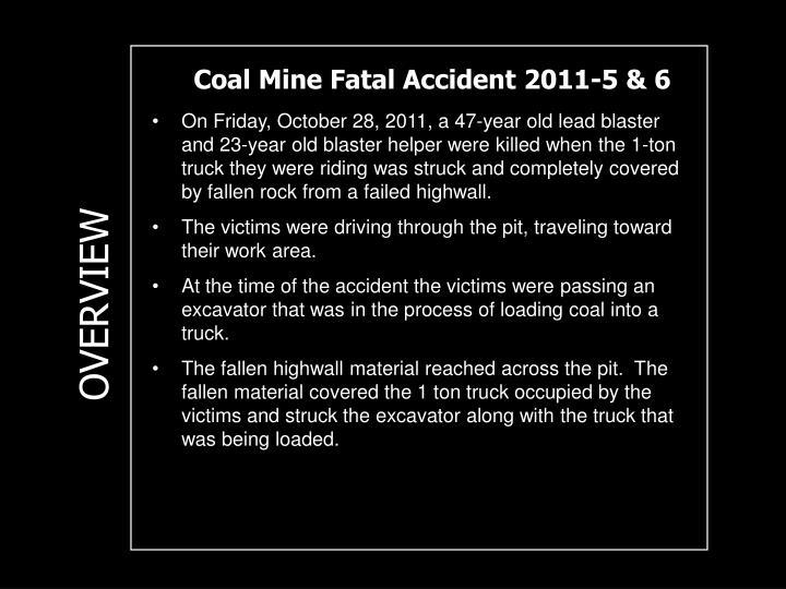 Coal Mine Fatal Accident