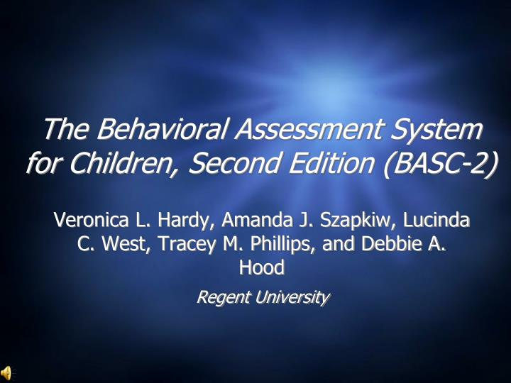 the behavioral assessment system for children second edition basc 2 n.